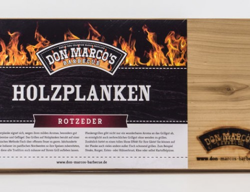 Don Marco's Holzplanke Rot Zeder