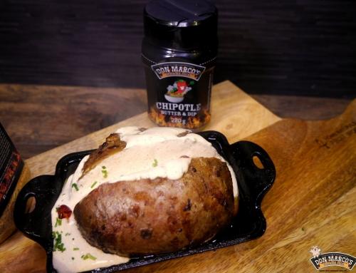 Grillkartoffel mit Butter-Whiskey-Ahorn Injektion