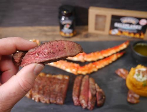 Neues Rezept: Wagyu Steak von der Salzplanke & Crab Legs