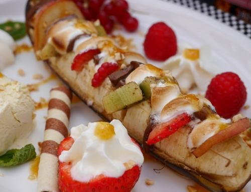Hasselback-Banane vom Grill