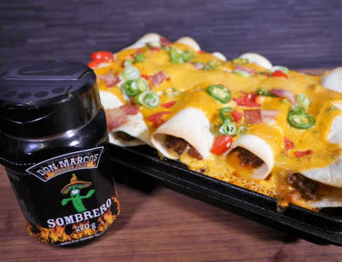 Bacon & Bourbon Cheeseburger Enchiladas