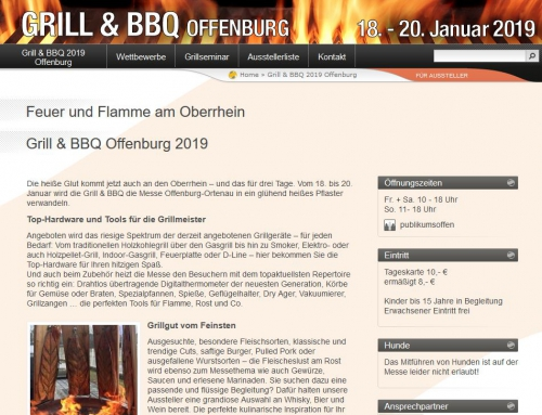 Grill & BBQ Messen in Offenburg und Sindelfingen!