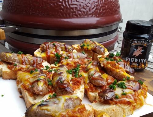 Picanto Bratwurst Ciabatta mit BBQ Kraut